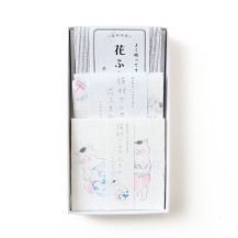 猫村さんの花ふきん・猫村さんのふきん・花ふきん 千筋 紺